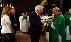 Tổng thống Italia dự lễ  tại Tòa TGM.TPHCM