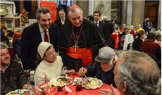 Tiệc Giáng sinh ý nghĩa của người vô gia cư tại Roma