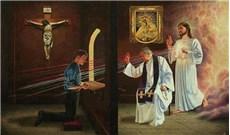 Năm thánh nhìn xuống