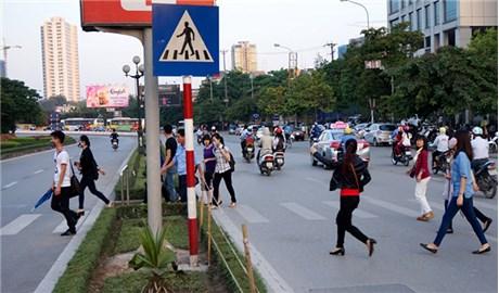 Xử phạt người đi bộ phạm luật giao thông