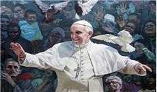 Bức tranh Giáo hội và cây cọ Lòng thương xót