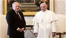 Tổng thống Thụy Sĩ xúc động vì được gặp ĐTC