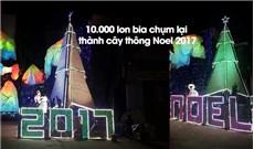 CÂY THÔNG GIÁNG SINH ĐƯỢC LÀM TỪ HƠN 10.000 VỎ LON BIA