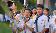 Thiếu nhi giáo xứ Tân Định tham dự Lễ Lá 2017