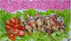 Bacon cuộn nấm