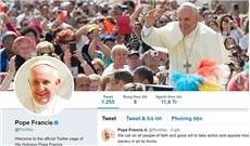 35 triệu người theo dõi tài khoản Twitter của Đức Thánh Cha