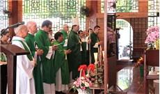 Đức Tổng Giám mục Zalewski dâng lễ cho cộng đoàn người Pháp tại Sài Gòn