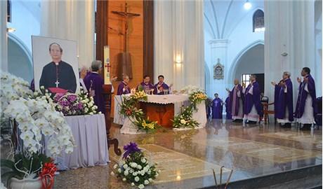 Nơi an táng các vị Giám mục qua đời gần đây