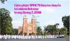 Danh sách thuyên chuyển bổ nhiệm linh mục trong tháng 7.2018 tại TGP TPHCM