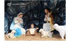 Hang đá Giáng Sinh tại nhà thờ Đức Bà Sài Gòn