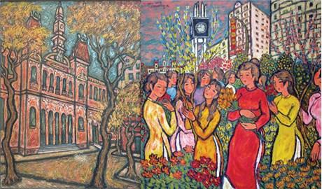 Họa sĩ Nguyễn Văn Phương với mùa Xuân trong tranh