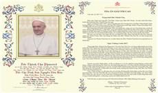 Ban Phép Lành Tòa Thánh trong thánh lễ mở tay?