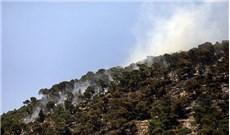 Cháy rừng tại núi Tabor, gần nhà thờ Chúa Biến Hình