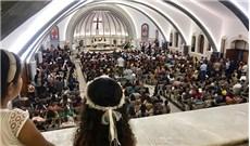 Nhà thờ bị  khủng bố tàn phá đã hồi sinh