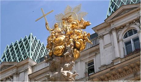 Cây cột biểu tượng Chúa Ba Ngôi nổi tiếng ở Áo