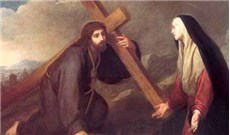 Phép lần hạt Bảy Sự Thương Khó Ðức Bà  -Ngắm thứ năm - Ðứng gần thập giá Ðức Giêsu có thân mẫu Người