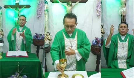 Vị linh mục nhiễm Covid-19  dâng lễ trực tuyến