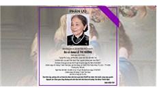 Bà cố Anna Lê Thị Sương qua đời