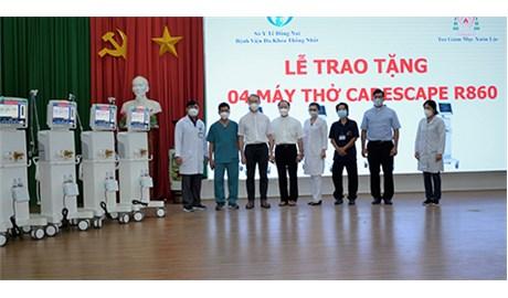 Giáo phận Xuân Lộc tặng 6 máy thở giúp các bệnh viện tỉnh Đồng Nai