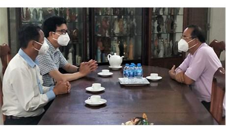 Phó ban Ban Tôn giáo Chính phủ thăm và làm việc với Liên hiệp Bề trên Thượng cấp Việt Nam