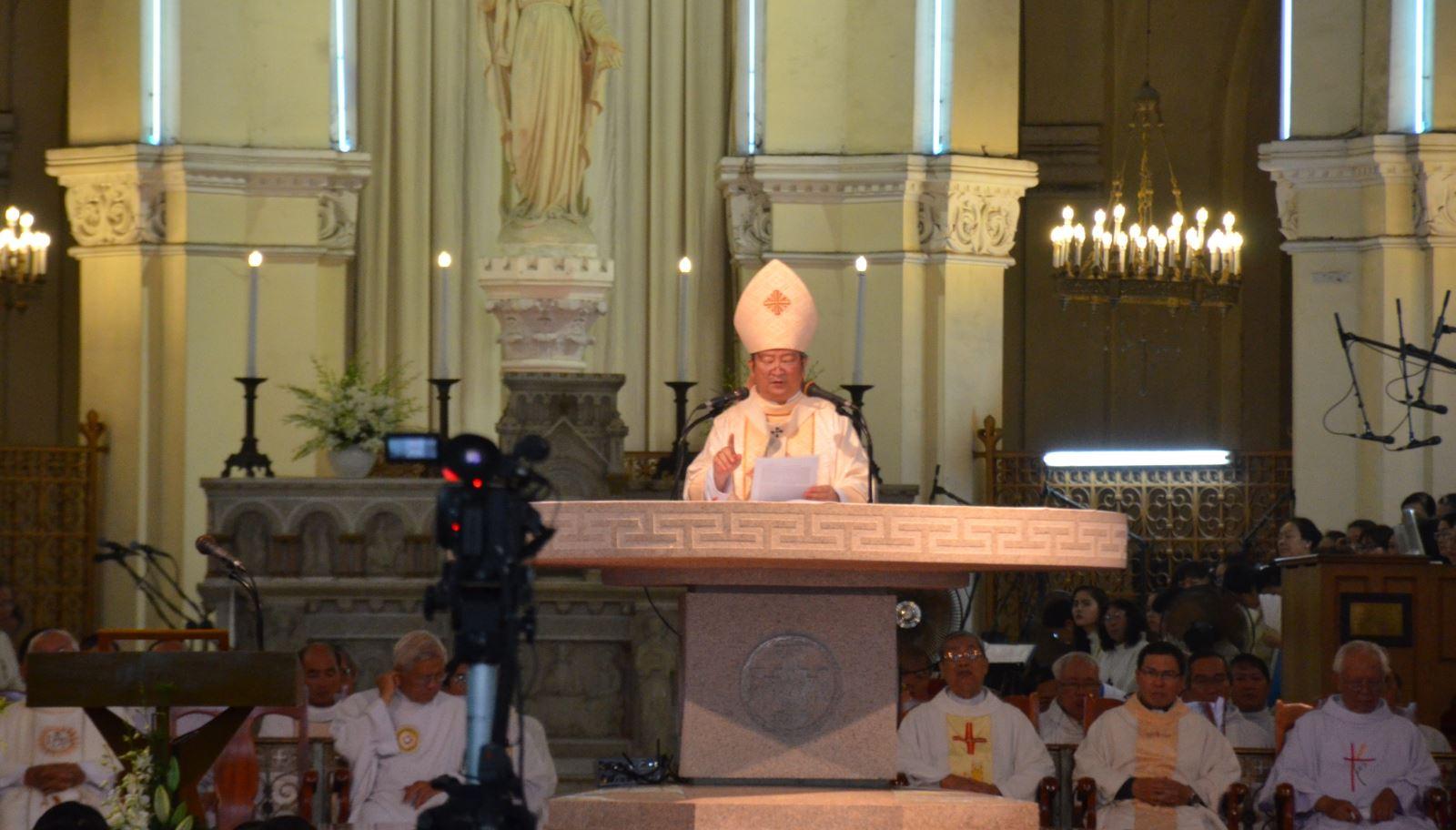 Đức Tổng Phaolô giảng lễ