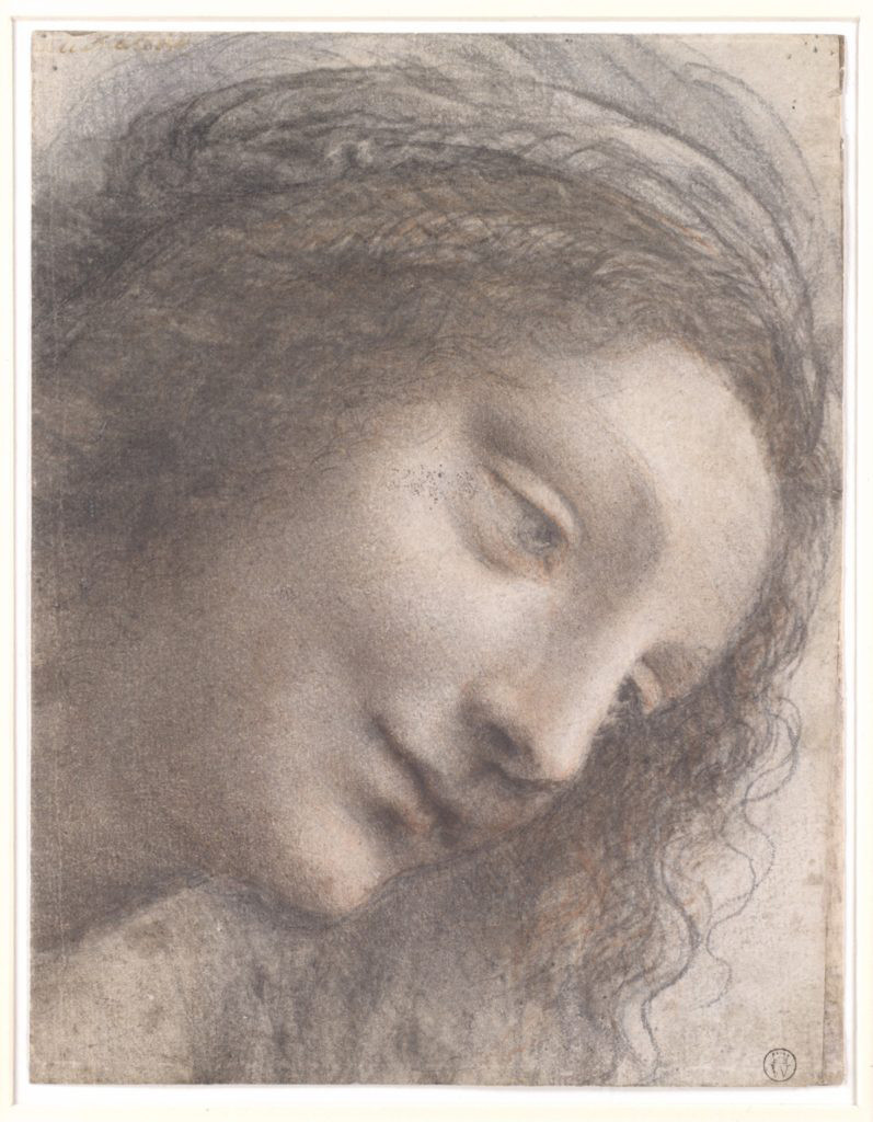 Khuôn mặt của Đức Trinh Nữ rất bình yên và được miêu tả là \u201cvẻ đẹp kỳ diệu\u201d. Thật không khó để nhận ra tình yêu trong đôi mắt của Đức Trinh Nữ.