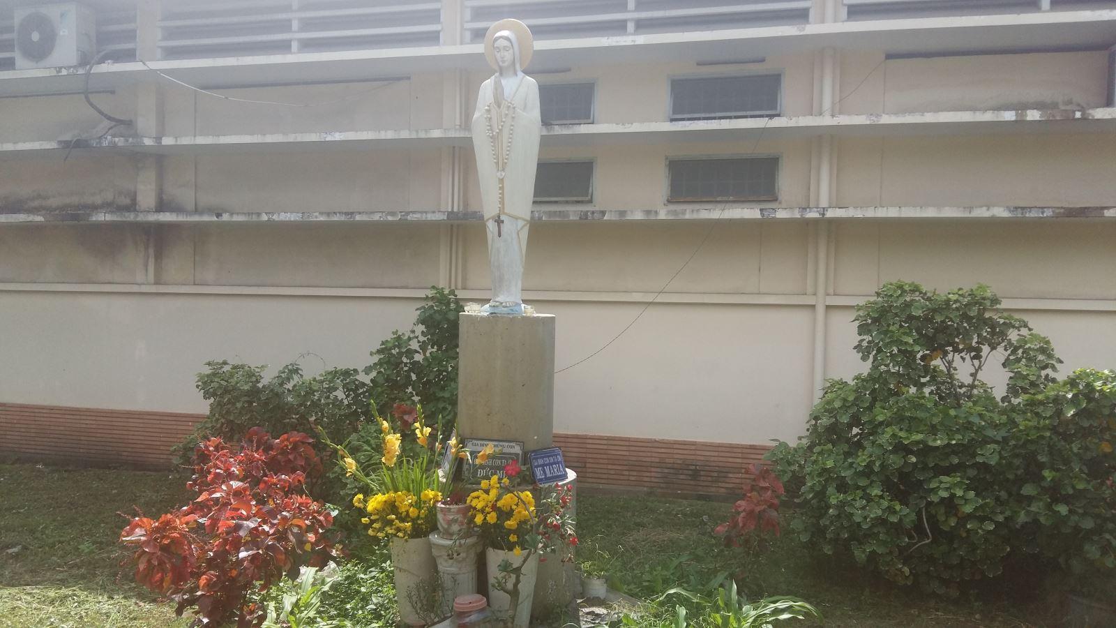 Không khó để tìm ra những đài Đức Mẹ, hang đá Đức Mẹ ở các bệnh viện lớn trong thành phố. Có thể kể đến các bệnh viện như Chợ Rẫy, ...