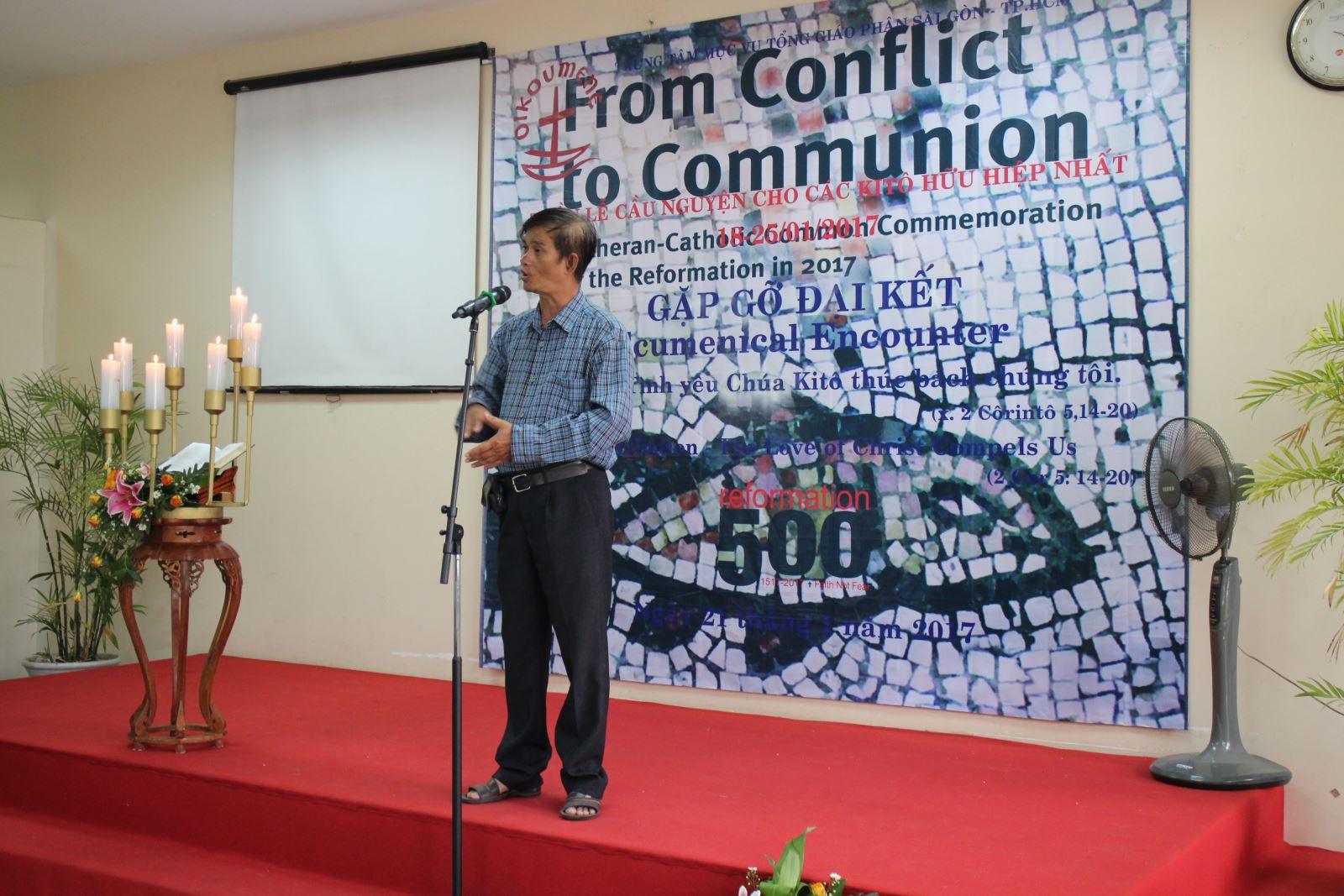 Mục sư Võ Thiên Phước chia sẻ trải nghiệm về sự hòa giải