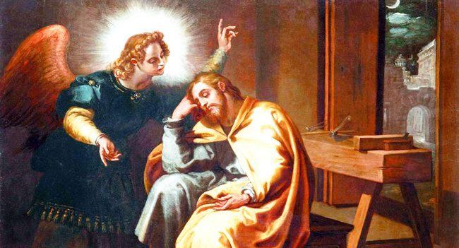 Kết quả hình ảnh cho thiên thần báo mộng thánh giuse