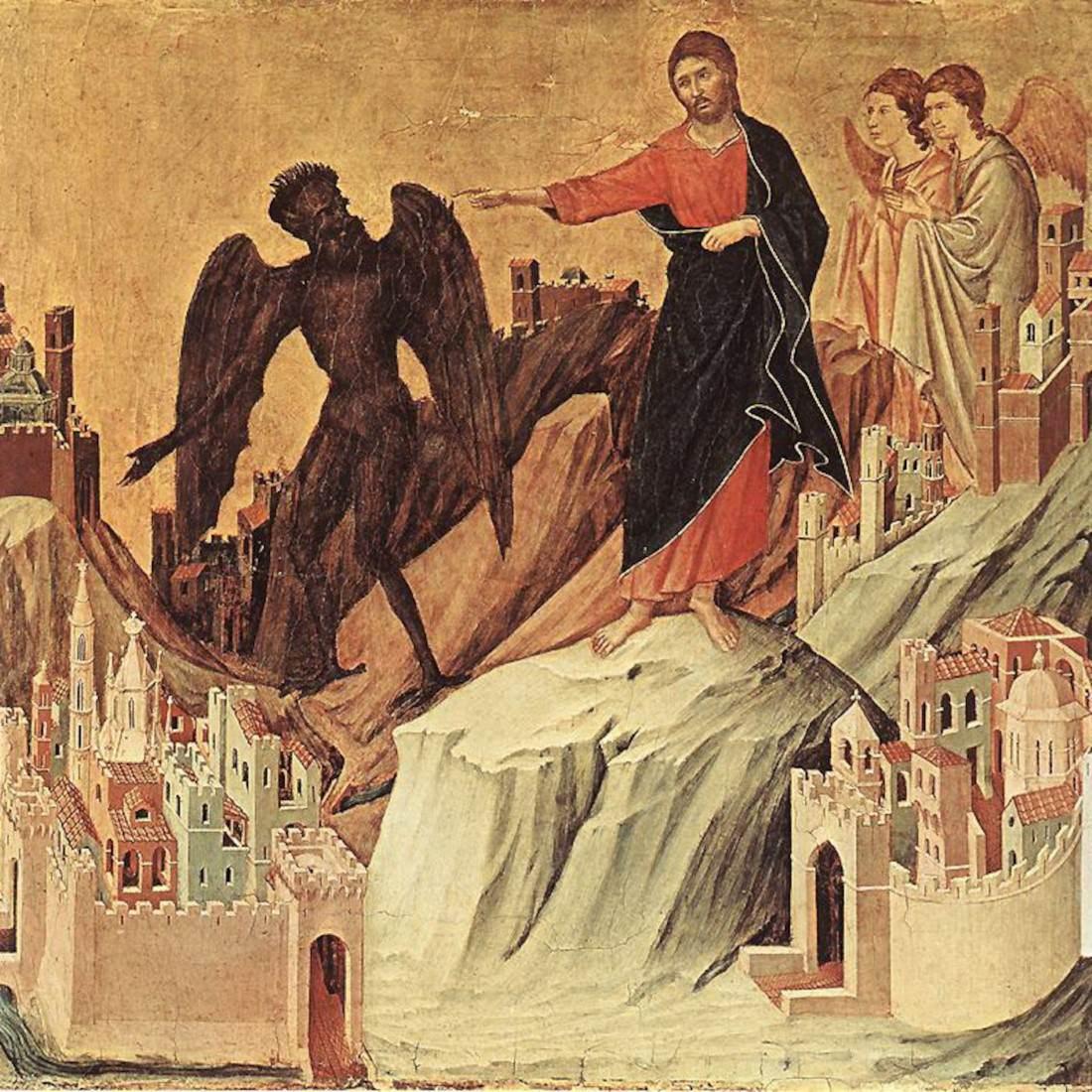 Kết quả hình ảnh cho Chúa Giêsu bị ma quỷ cám dỗ