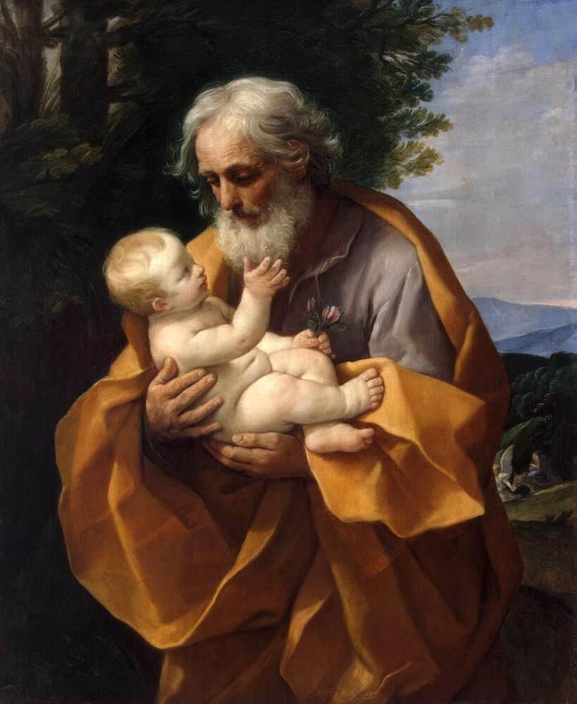 Kết quả hình ảnh cho guido reni st joseph with the infant jesus